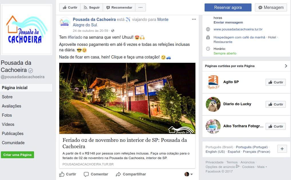 redes sociais para hoteis