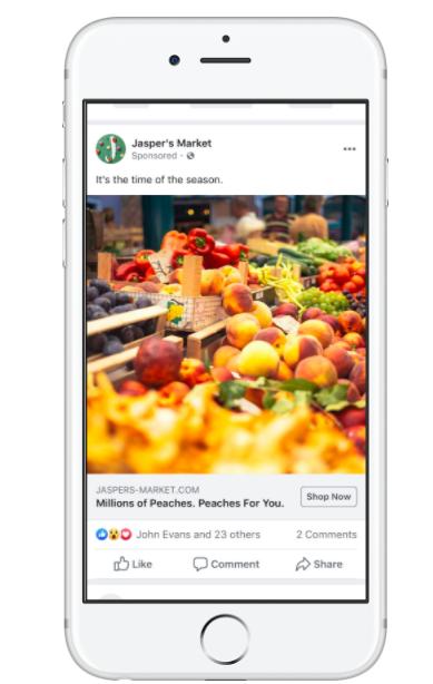 Anúncio de feed Facebook