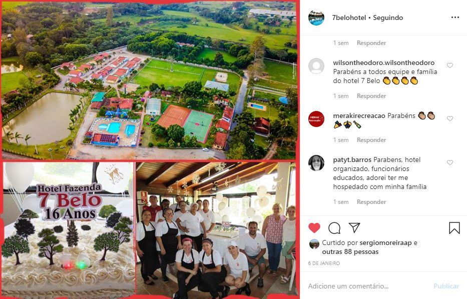 Instagram de hotel exemplo Hotel Fazenda 7 Belo - 1