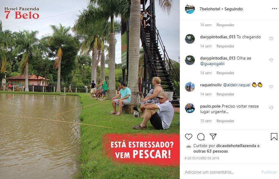Instagram de hotel exemplo Hotel Fazenda 7 Belo - 3