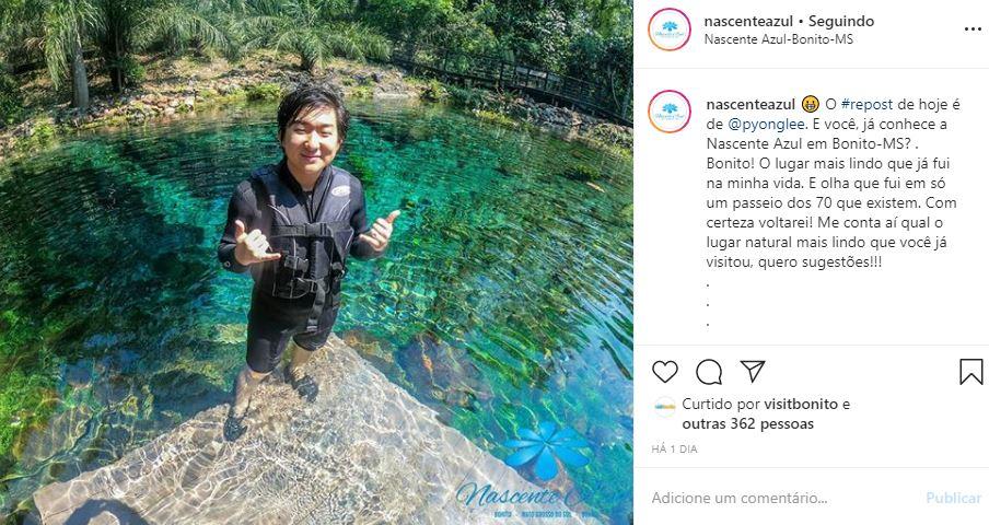 Instagram de Hotel e Turismo - Nascente Azul - Exemplo 3