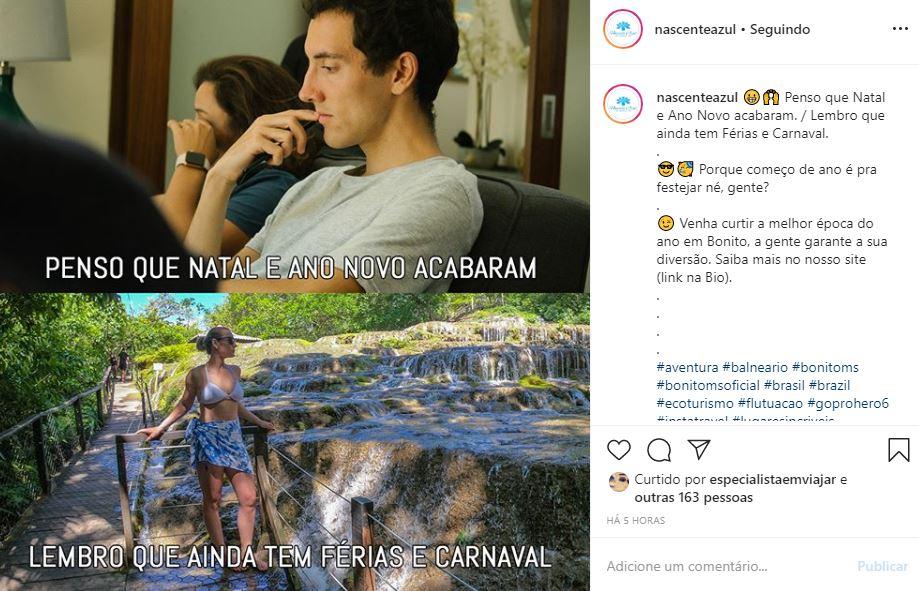 Instagram de Hotel e Turismo - Nascente Azul - Exemplo 4