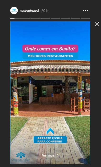 Instagram de Hotel e Turismo - Nascente Azul - Exemplo 5