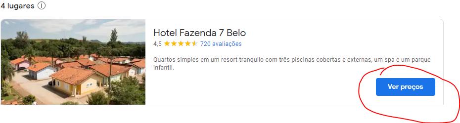 Exemplo Google Hotel Ads